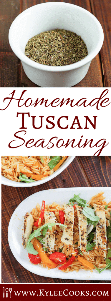 Have a recipe that calls for Tuscan Seasoning, and can't find it in the store, or don't know what it is? I've got you covered. Make your own using this easy recipe. #homemade #tuscan #seasoning #spiceblend #herbs
