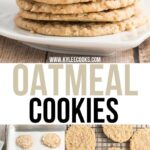 oatmeal cookies pin with text overlay