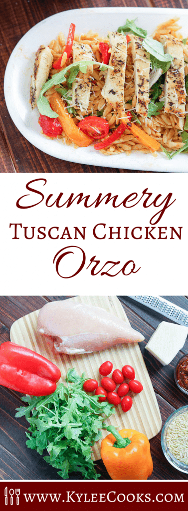 A fresh, summery dish - perfect for a delicious lunch or light dinner, this Tuscan Chicken Orzo is full of fresh flavors, easy to make on the fly, and even easier to make ahead.