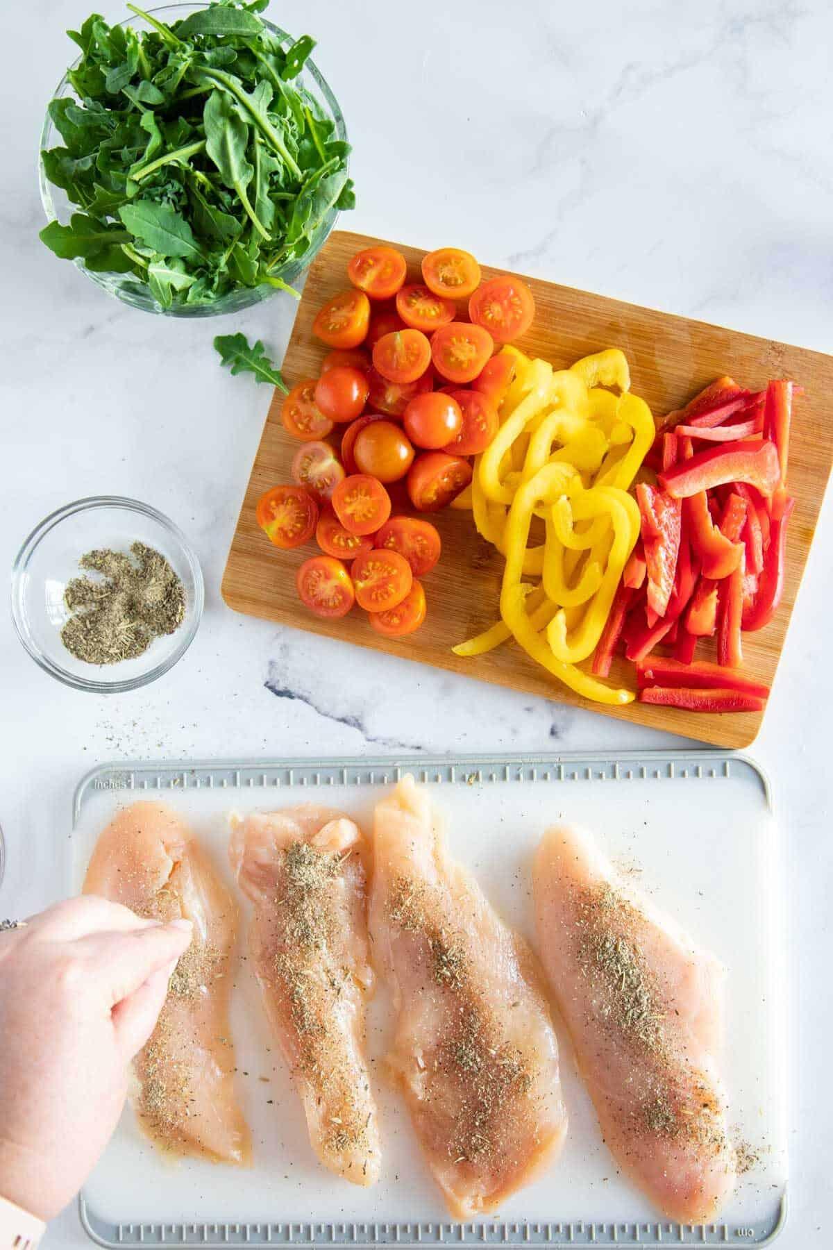seasoning chicken
