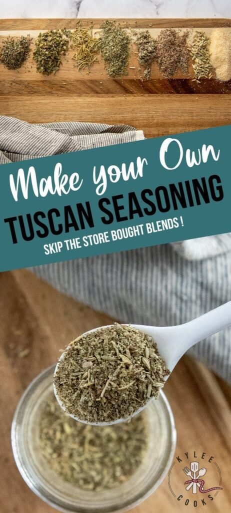 Tuscan Seasoning pin with text overlay