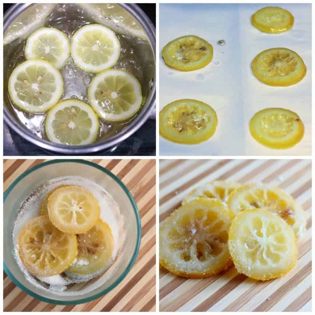 How to make candied lemon slices, lemon pie