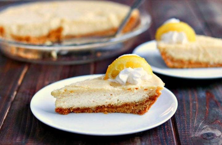 Creamy Lemon Pie with Candied Lemon Slices