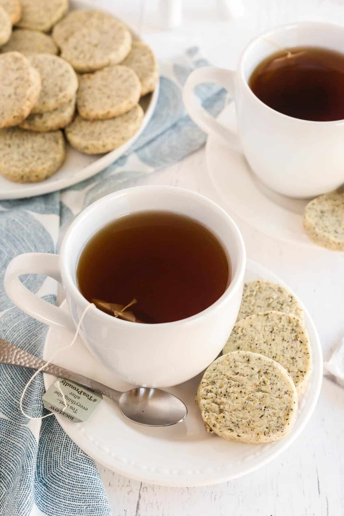 cookies with a teacup and saucer