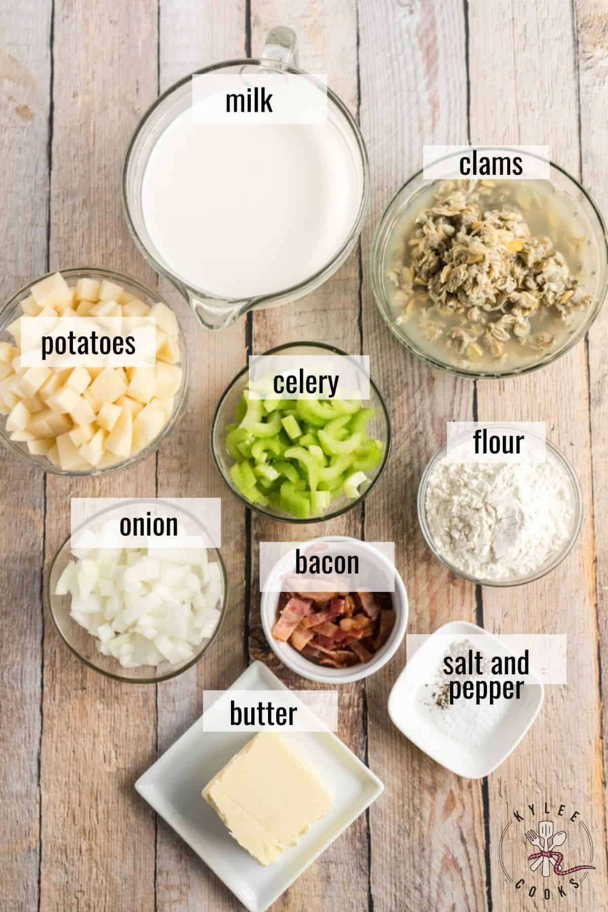 ingredients in clam chowder