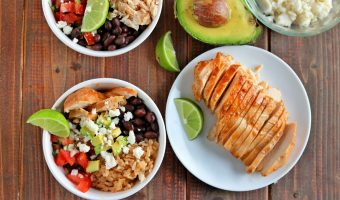 Slow Cooked Fiesta Chicken & Rice Bowls