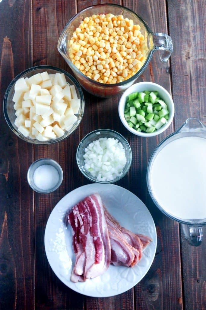 Corn Chowder Soup ingredients