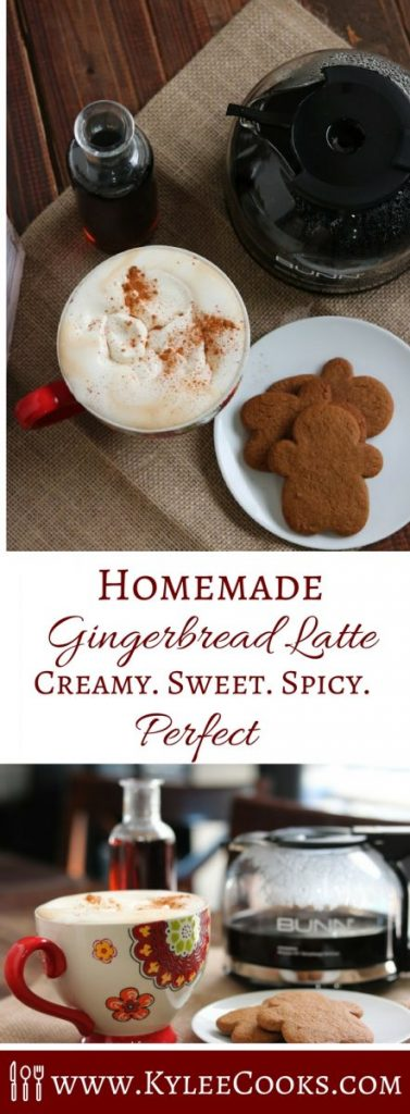 Skip the lines (and the expense) at your local coffee shop, and make this creamy, sweet and spicy Homemade Gingerbread Latte at home!