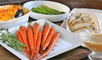 Bourbon Glazed Roasted Carrots with EASY Roasted Turkey (Video)
