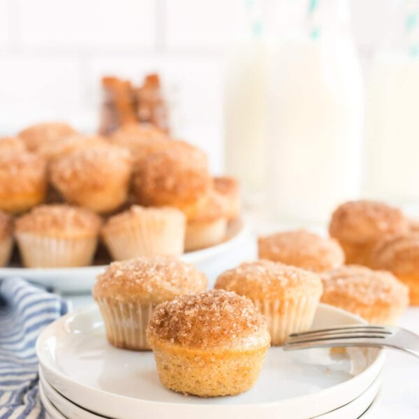 mini muffins on a white plate
