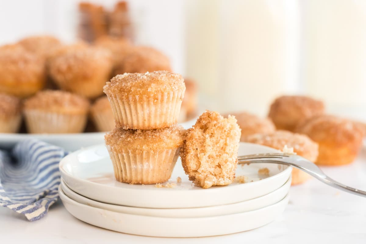 3 muffins on a white plate