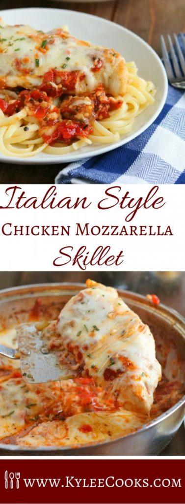 Italian Style Chicken Mozzarella Skillet