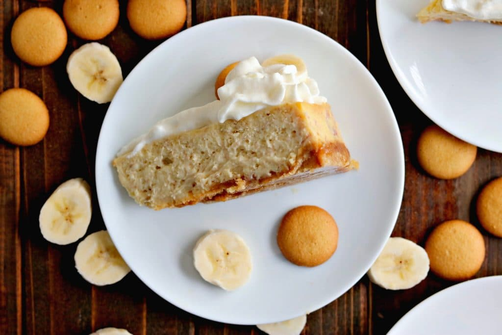 A hybrid of Banana Cream Pie & cheesecake makes this Banana Cream Cheesecake (rich, creamy cheesecake-y banana deliciousness) the perfect finale to any meal