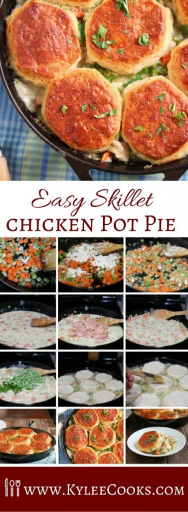 Easy skillet chicken pot pie kylee cooks the best comfort food my super easy skillet chicken pot pie hits all the right forumfinder Choice Image
