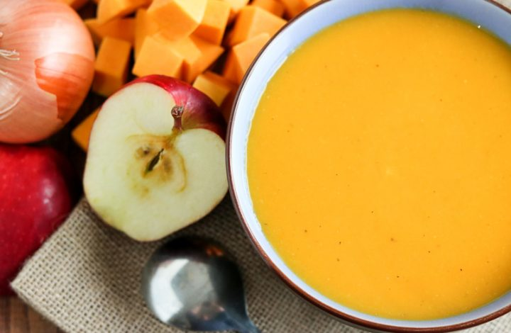 Healthy Butternut Squash and Apple Soup