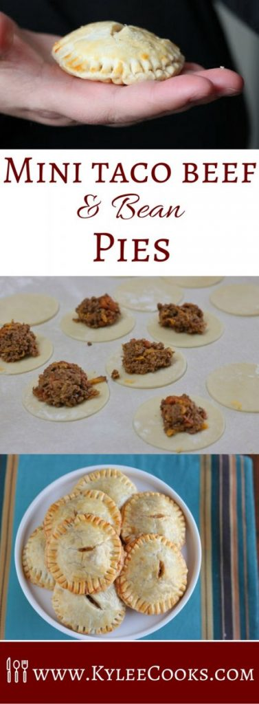 Mini Taco Beef and Bean Pies