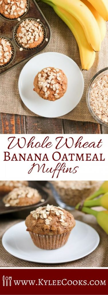 Delicious banana and oatmeal muffins packed with flavor, a healthier version of an old favorite! These muffins are better for you, and taste delicious!