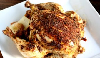 "Easy Crockpot ""Rotisserie"" Chicken"