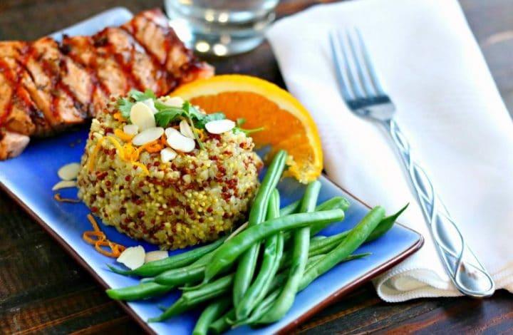 Fresh Ginger-Orange Scented Quinoa
