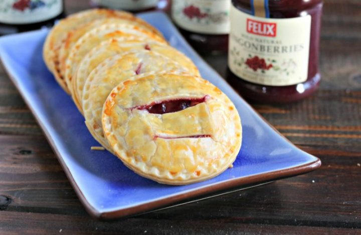 Lingonberries & Cream Hand Pies