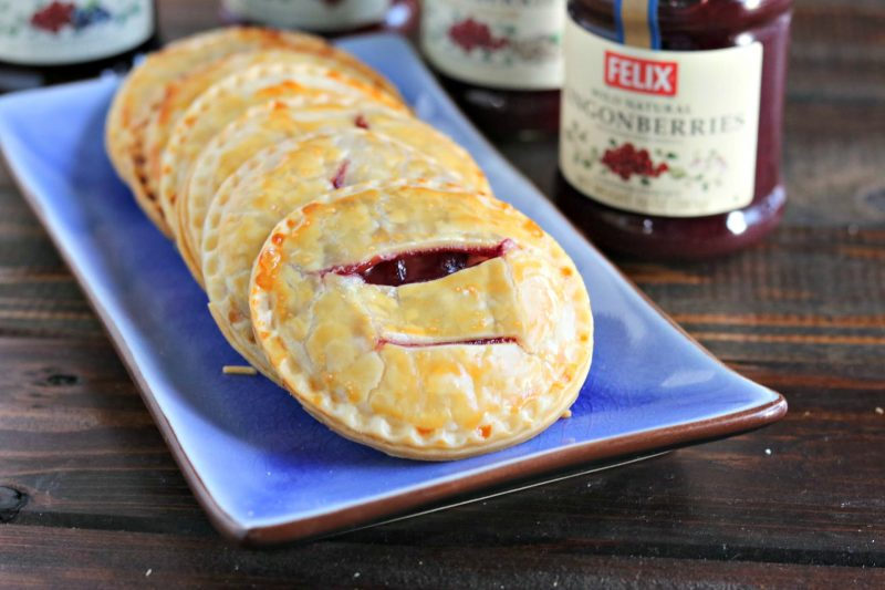 Tart-but-sweet lingonberries paired with a cream cheese filling, wrapped in pie dough and baked to perfection. These yummy little Lingonberries & Cream Hand Pies will have people fighting over the last one (and the first one).