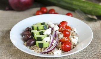 Mediterranean Style Rice Salad Bowls