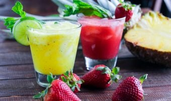 Strawberry-Lime & Pineapple-Mint Agua Fresca