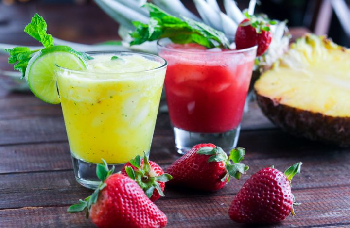 Strawberry-Lime & Pineapple-Mint Agua Fresca
