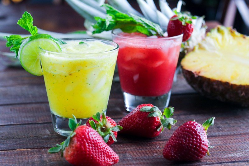 Cool off this summer with refreshing (and non alcoholic) Agua Fresca, made easy by mixing your favorite fruit with sugar, fresh mint and lime.