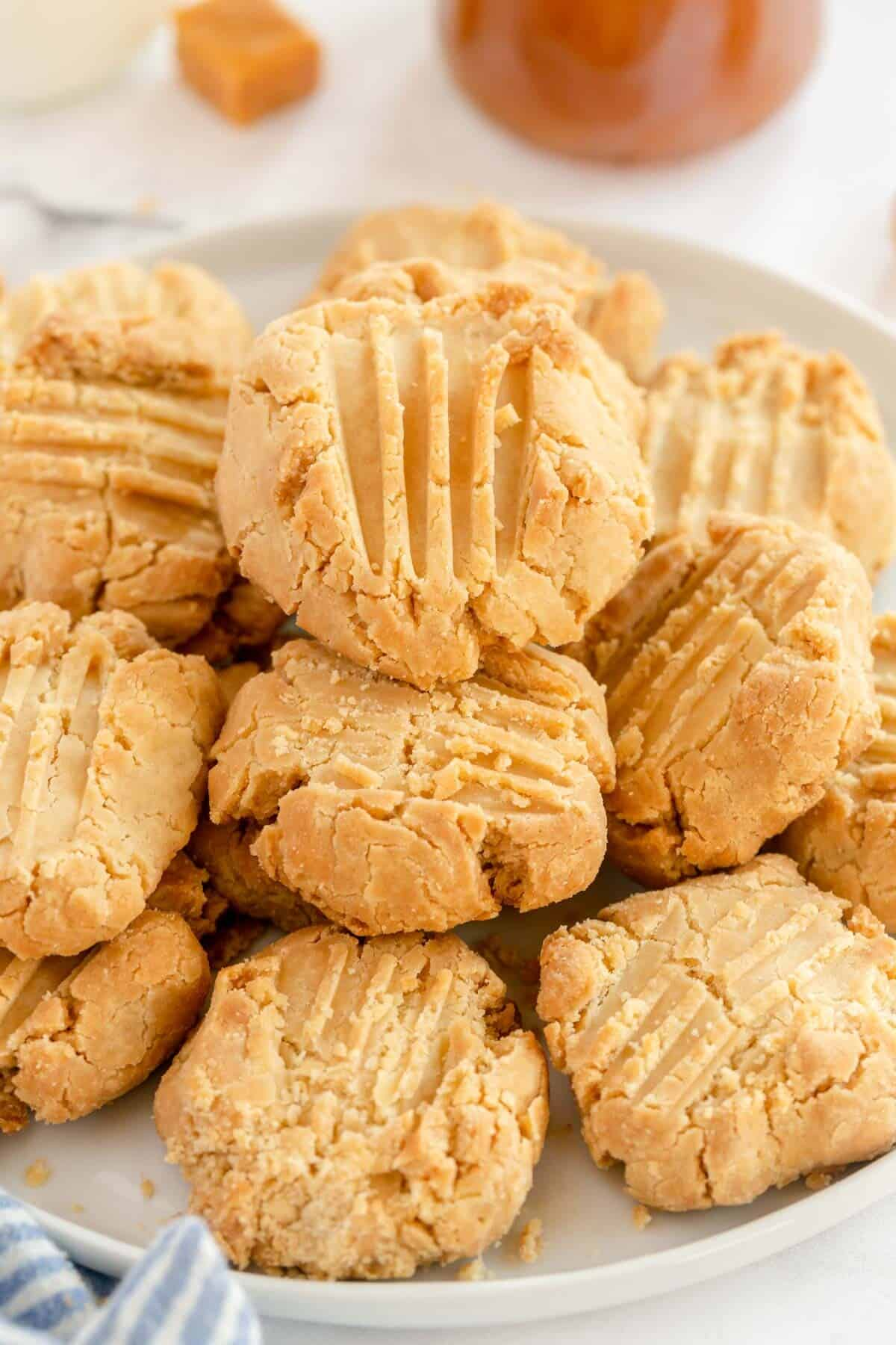 caramel cookies on a plate