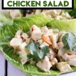curried chicken salad with text overlay