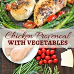 Low carb chicken dinner, chicken provencal pin