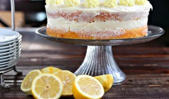 Naked Lemon Sour Cream Cake