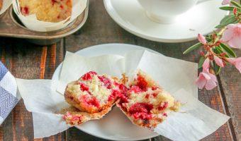 Quick Raspberry White Chocolate Muffins