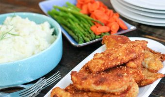 Crispy Cheesy Breaded Chicken Tenders
