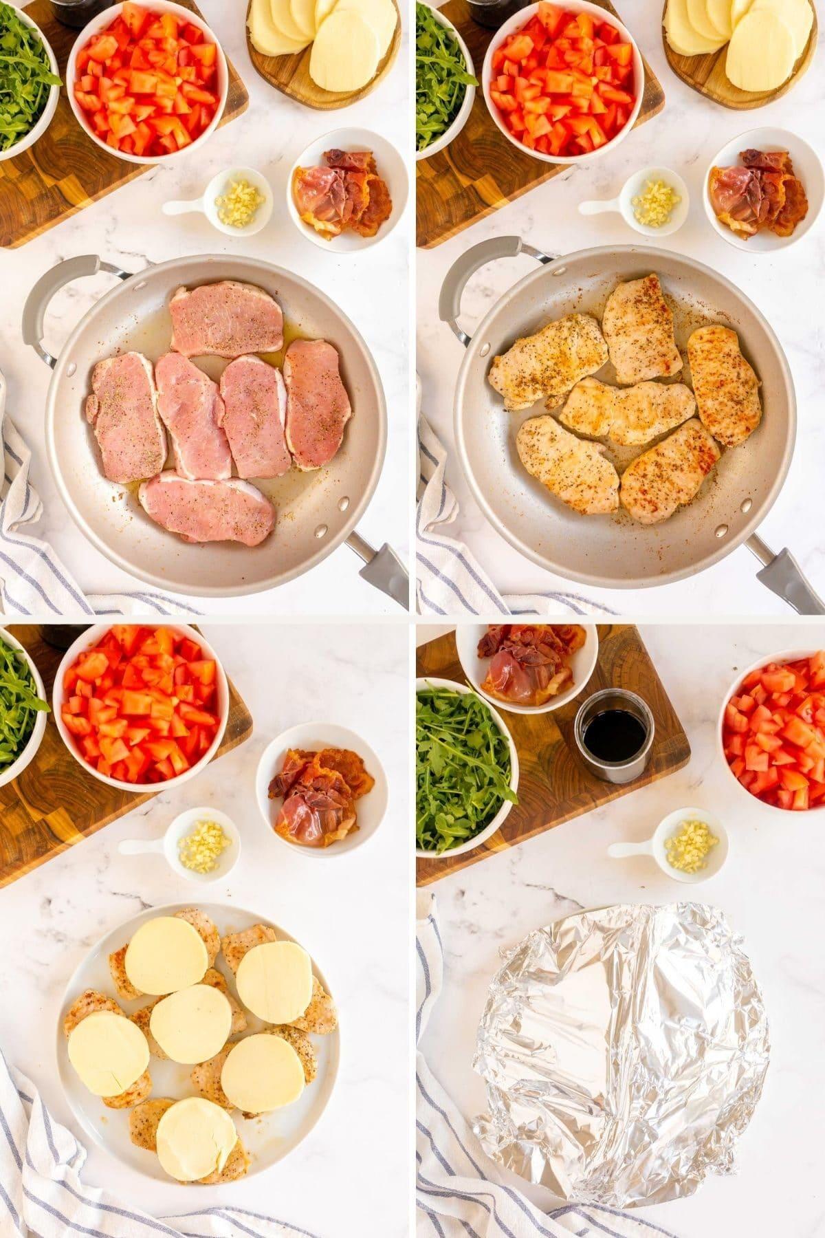 step by step - cooking pork chops