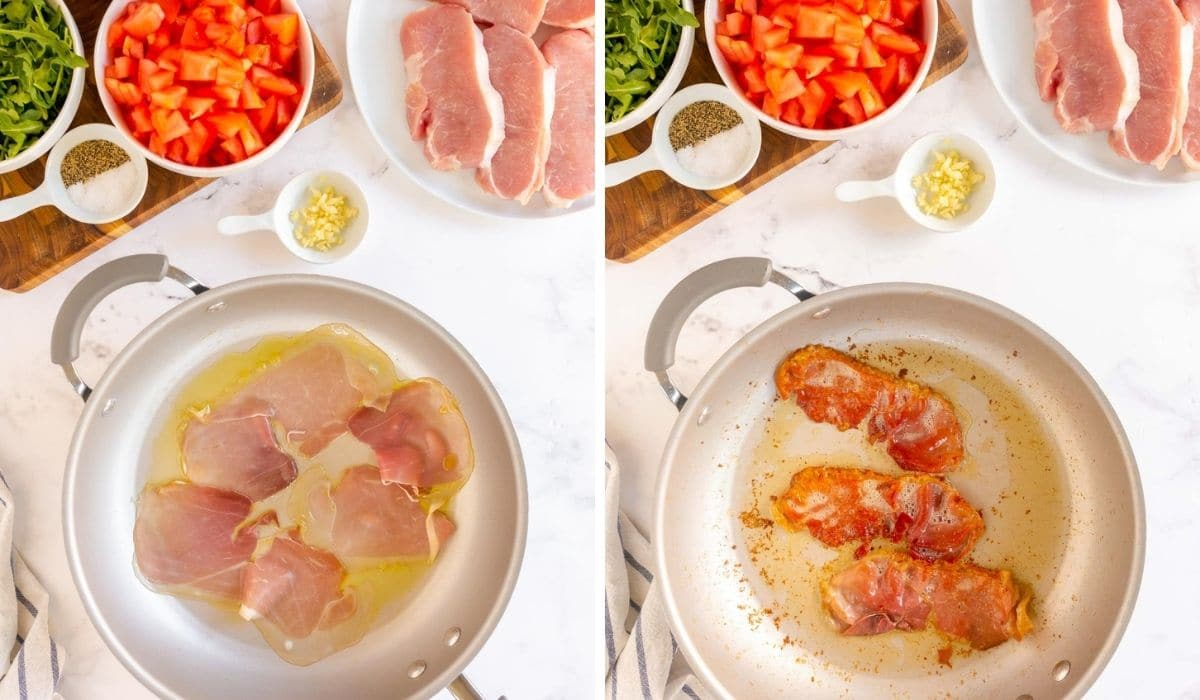 step by step - cooking prosciutto