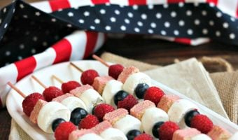 Patriotic Fruit & Cookie Kabobs