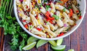 Southwestern Pasta Salad with Lime Vinaigrette Dressing