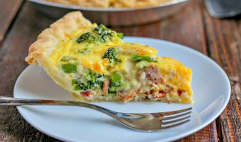 Easy Bacon & Broccoli Quiche