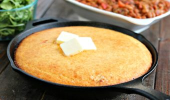 Fluffy Golden Skillet Cornbread