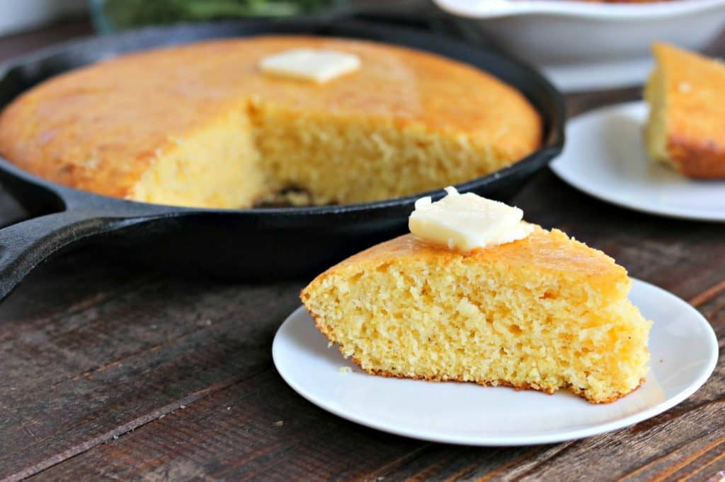 Fluffy and Golden, this Skillet Cornbread is a cinch to make, and is fantastic side for any meal!