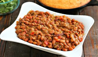 Cracked Pepper Steak Baked Beans