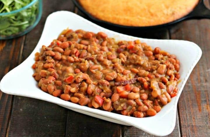 Cracked Pepper Steak Baked Beans