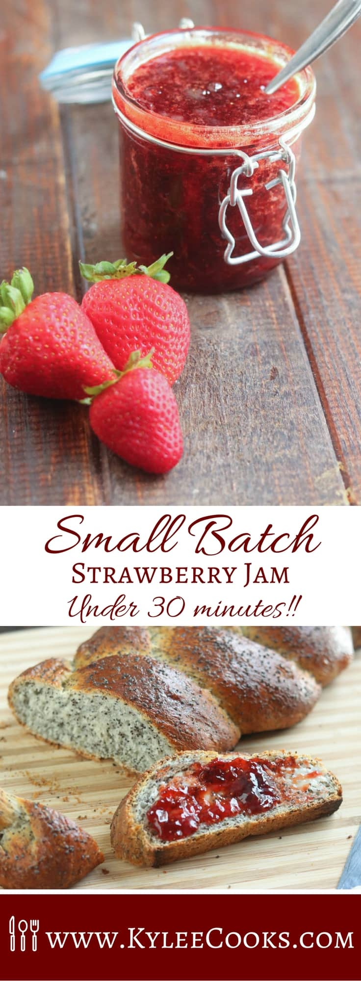 Small batch strawberry jam in under an hour! #strawberry #recipe #jam