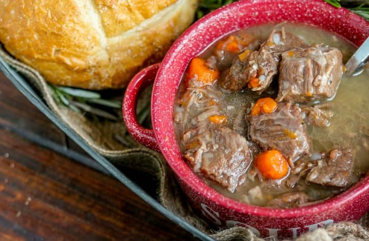 Rosemary & Red Wine Beef Stew Recipe (Instant Pot/Stove Top)