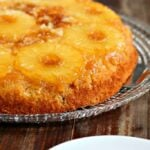 Skillet Honey-Pineapple Upside Down Cake - #dessert #cake #recipe #food
