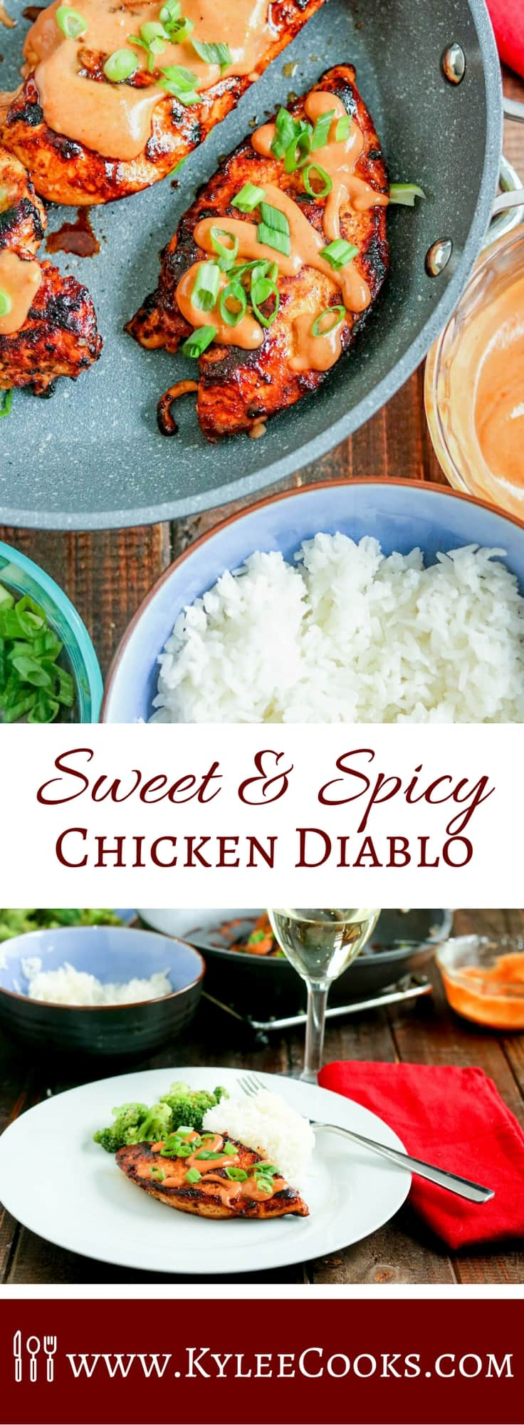 This spicy, sweet and creamy Chicken Diablo is a super easy dinner, that will satisfy the family. Ramp the heat up, or dial it down to your liking!
