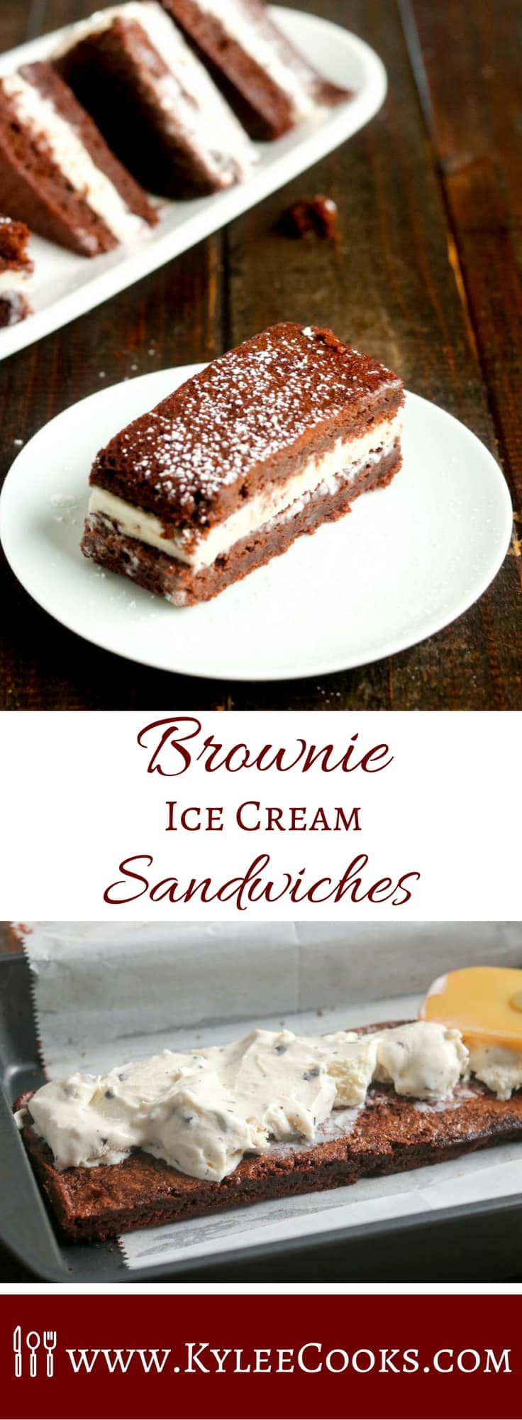 These delicious little Brownie Ice Cream Sandwiches are JUST the thing, with chewy brownies for the outside, and a rich and creamy gelato for the center.