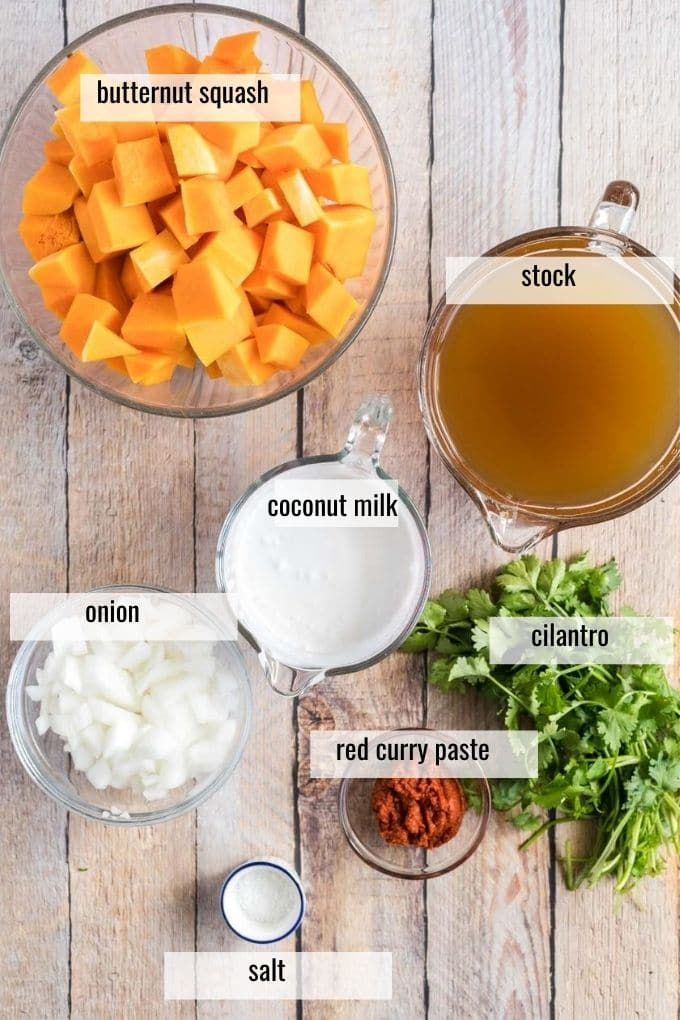 butternut soup ingredients